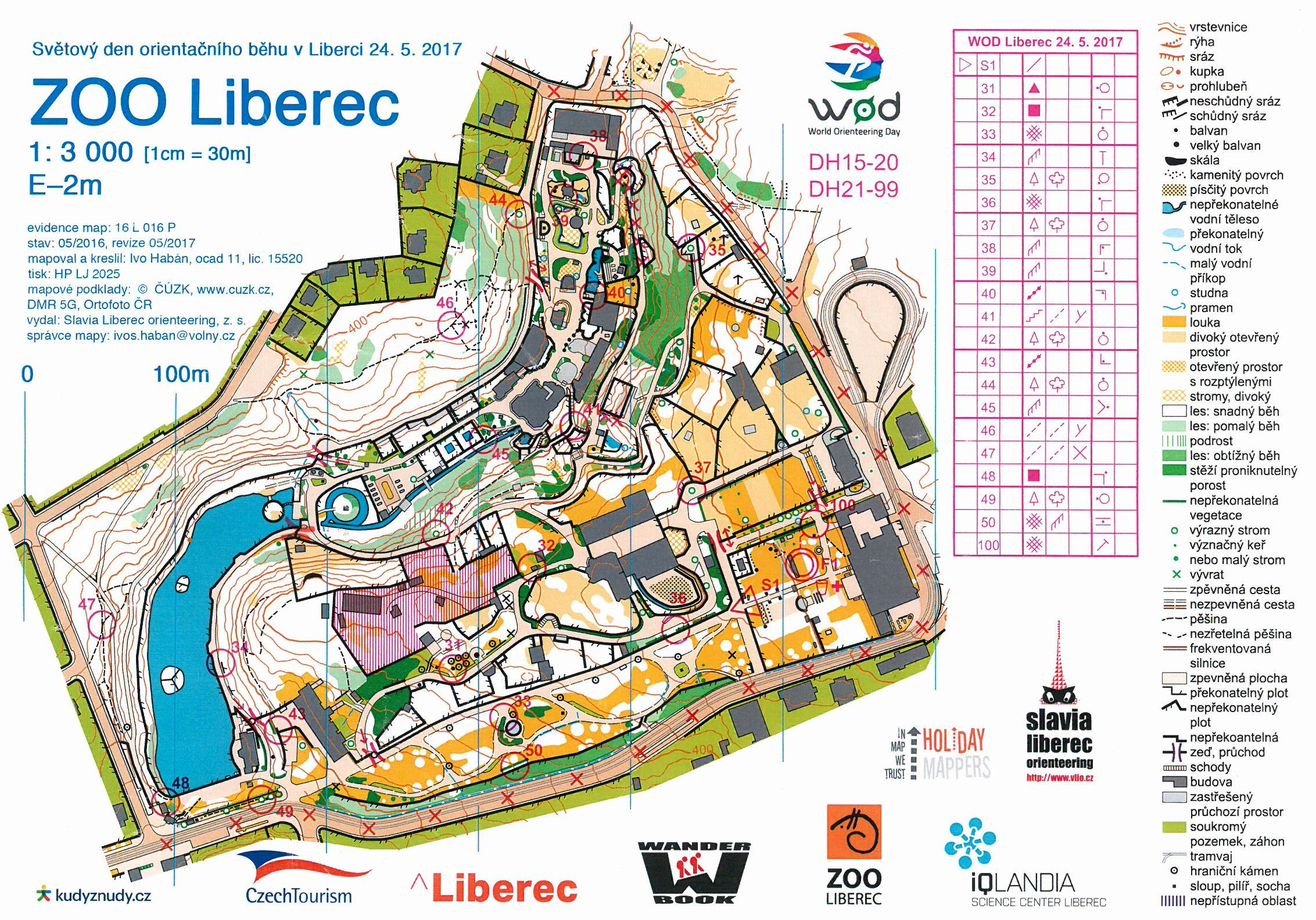 Wod Zoo Liberec Score May 29th 2017 Orienteering Map From